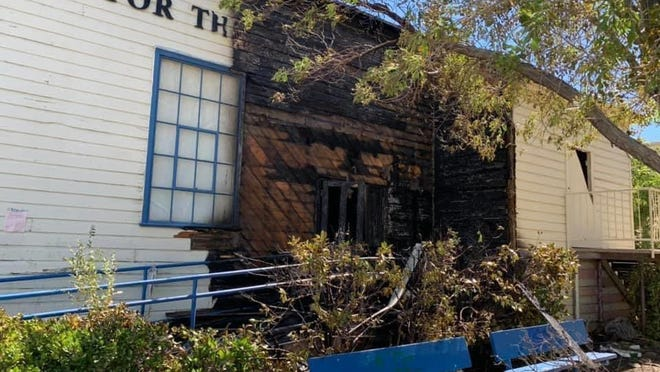 Two fires on Saturday damaged the High Desert Center for the Arts building located at 15615 Eighth Street in Victorville.