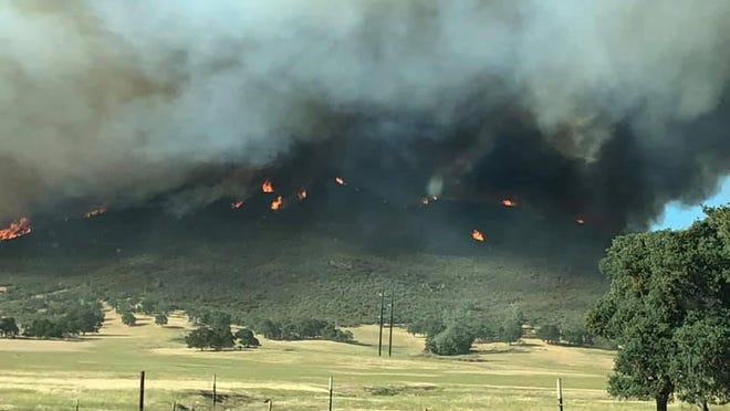 Cal Fire is on scene at the Walker Fire in Calaveras County that sparked Tuesday afternoon near Walker Trail Road and has grown to more than 1,100 acres as of Wednesday morning. Fire crews battling the blaze included five helicopters, 13 engines and more than 415 firefighters.