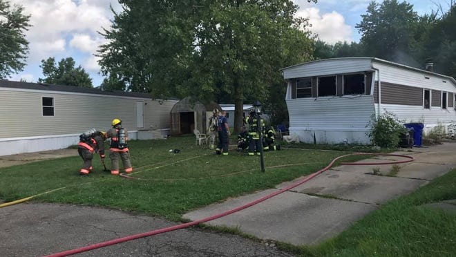 Firefighters responded to a fire that heavily damaged a Streetsboro home late Monday morning.
