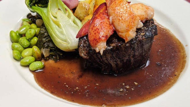 Surf and turf featuring Maine Lobster and agnus filet mignon is a summer staple at The Hamilton Restaurant and Bar in Saylorsburg.