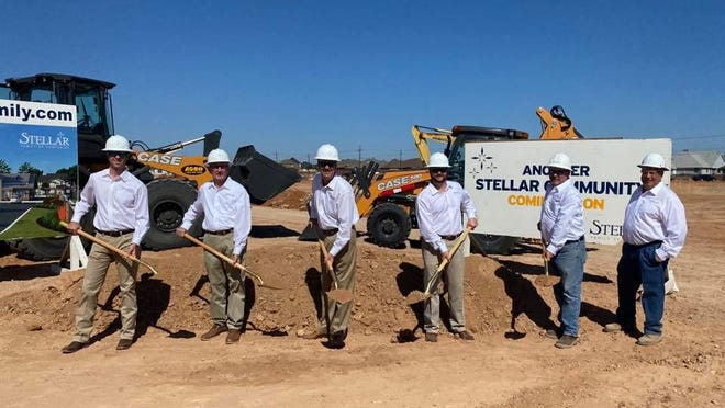Groundbreaking - The Hudson at Orchard Park, 3901 114th St. Holding shovels: owner Paul Stell and others, including Stellar Family of Companies, staff, friends, family and Chamber Ambassadors.
