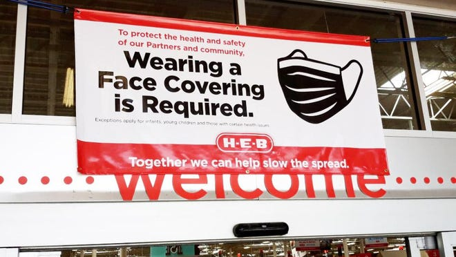 As of Wednesday, customers are now required to wear face coverings when entering many H-E-B grocery store locations, including those in Stephenville and Granbury.