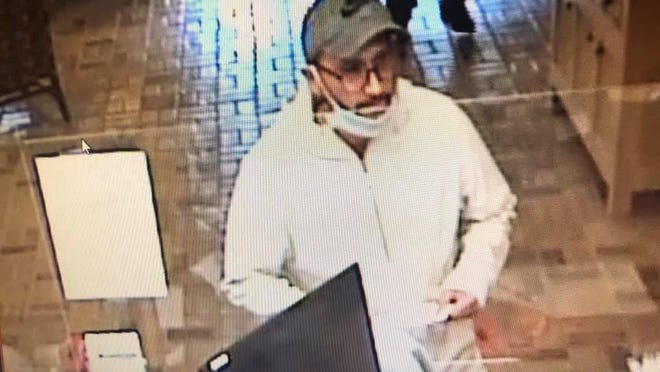 Police have released a surveillance still of a suspect in a bank robbery on Tuesday, Aug. 11, 2020, at Armstrong Bank, 2930 Old Greenwood Road, in Fort Smith.