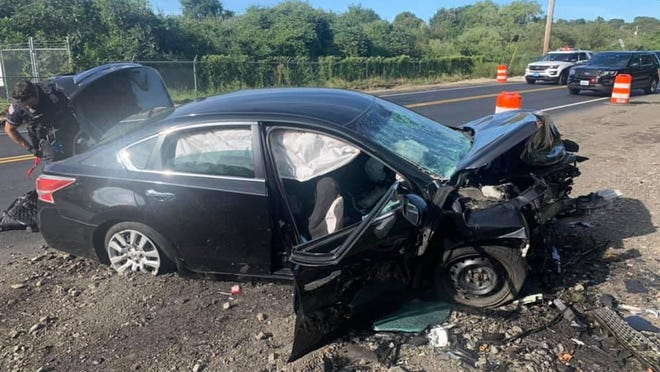 The Middletown Fire Department on Sept. 12 responded to a head-on collision on Coddington Highway.