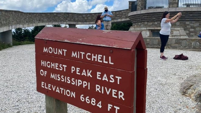 The closed portions of road are between Mount Mitchell north to Buck Creek Gap Overlook.