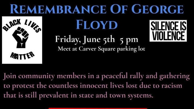 Carver's Remembrance of George Floyd will begin at 5 p.m. Friday, June 5, in the Carver Square parking lot.