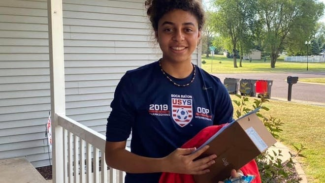 Val Champagne, who lost her sophomore girls soccer season at Pekin this spring because of the COVID-19 pandemic, has headed to Bradenton, Fla., to play at the IMG Academy.