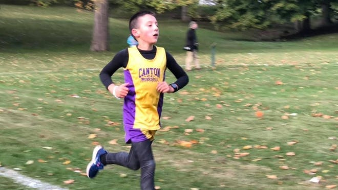 Landon Bowers is pictured during an Ingersoll Cross Country meet held last week.