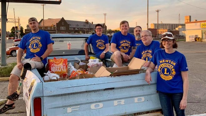 In May, the Newton Lions Club hosted a food drive during a Saturday cruse night. The club is planning to change the annual pancake feed in November to a by-donation event, turning no one away when they serve the election day meal.