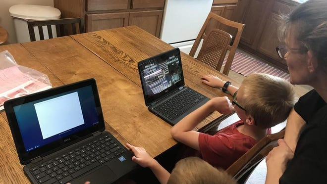 """Students who signed up for remote-only, or online, school in Newton USD 373 for the fall semester will be able to pick up Chromebooks during """"Family Engagement Opportunities"""" starting Aug. 31."""