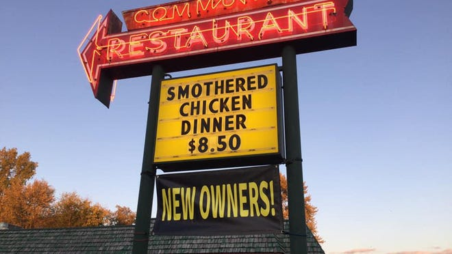 The road sign at Community Restaurant in Zeeland indicates the business is under now ownership. Barry Elzinga and Korde Van Klompenberg took over the restaurant Thursday, Oct. 15.