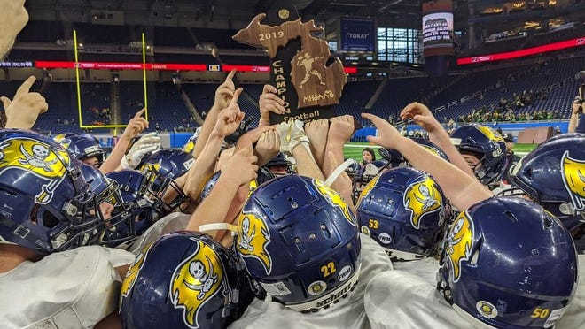 The Michigan High School Athletic Association will allow a limited number of fans at state football playoff games and volleyball tournament games this month.