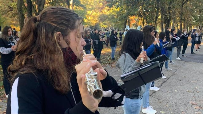 The Fennville High School band has played a series of pop-up, front lawn concerts in the community in recent weeks.