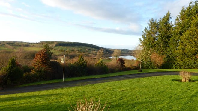 The view from the front yard of home in Aughavas, County Leitrim.