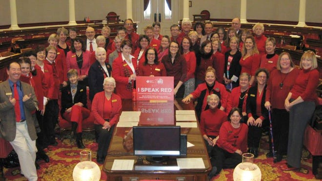 The American Heart Association sponsors Wear Red Day in the Vermont House to raise awareness of heart health.