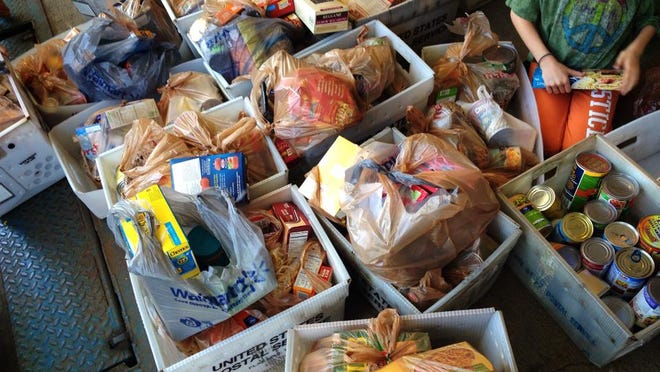 The Noblesville Post Office hosted a food drive in May as a part of the nationwide Stamp Out Hunger campaign.