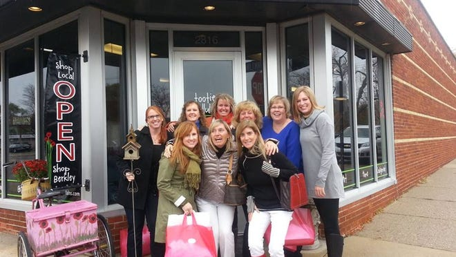 Shoppers enjoy a Ladies Night Out adventure in downtown Berkley.