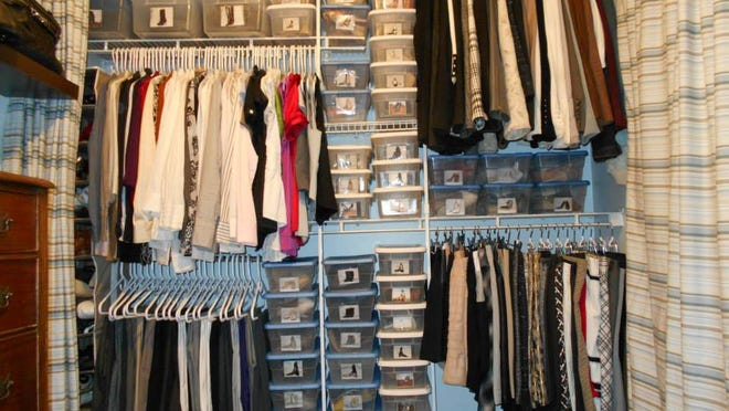 This closet system cost about $150.