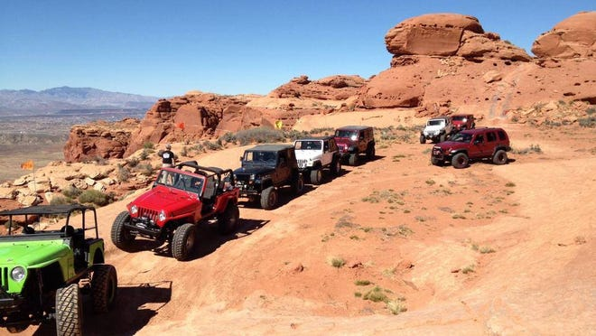 Members of the Desert Roads and Trails Society operate OHVs along some of the trails accessible on public lands in Washington County.