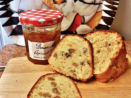 The Happy Baker's apricot nut jam cake.