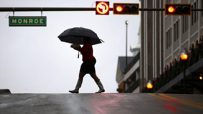 Storms knocked out power to thousands of downtown customers.