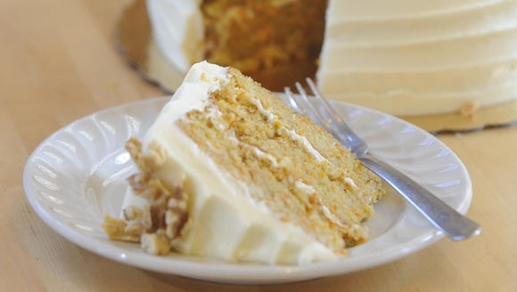 24K Carrot Cake at Queen City Bakery.