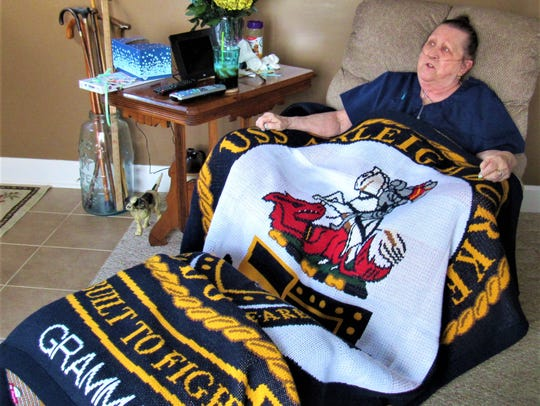 This blanket is a treasured gift from Chloris Cooley's