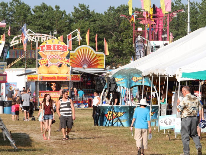 Opening night of the Ocean County Fair  at Robert J. Miller Airpark.  Tuesday July 8, 2014, Berkeley, NJ. Photo by Robert Ward