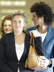 Gianna Constand (L) and her daughter, Bill Cosby accuser