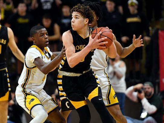 Cresskill's Harrison Lucibelo feels the pressure from