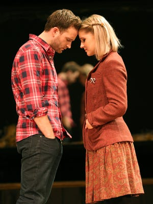 "Stuart Ward and Dani de Waal star in the national tour of ""Once."""