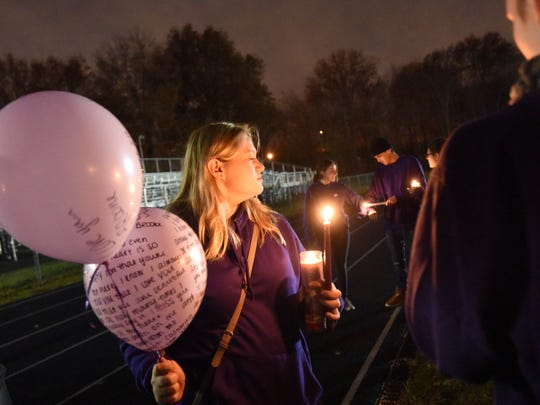 Hundreds attended a candlelight vigil Tuesday for Saddle Brook teen Brooke Costanzo, who died Monday morning after a Sunday car accident in South Brunswick.