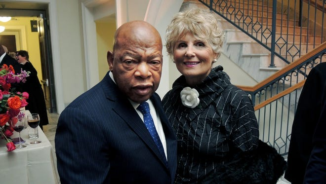 2016 Literary Award recipient John Lewis and Tish at the Nashville Public Library Foundation 2016 Literary Award Gala held at the Nashville Public Library in downtown Nashville.