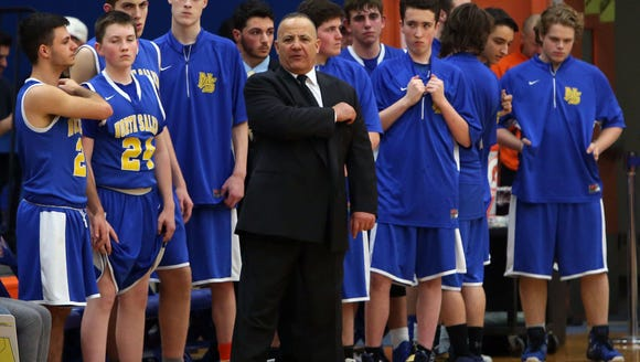 North Salem coach Henry Sassone earned his 400th career win Dec. 5, 2017 with a 76-68 win at Westlake High School.