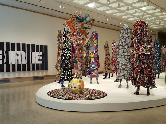 Nick Cave's Here Hear exhibit at Cranbrook Art Museum outside Detroit.