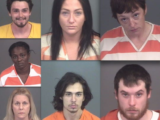 Clockwise: Nathan Bergey, Jessica Jones, Sarah Sexton, Duncan Purdy, Johnathan Parkkila, Shelly Sembarski and Rosalyn McMillian.