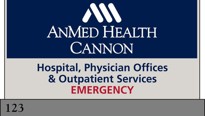 New signage for AnMed Health Cannon