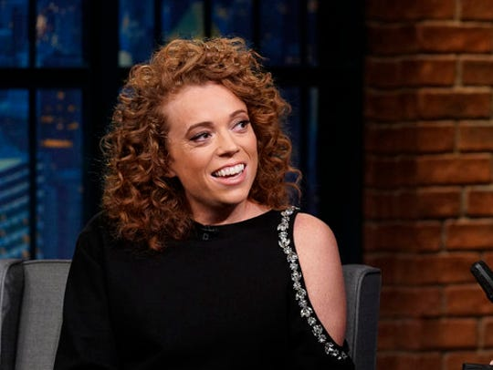Michelle Wolf, entertainer at this year's White House Correspondents' Dinner, appears on 'Late Night.'