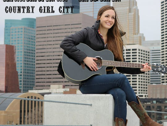 """The cover for a single by Karina Kern, """"Country Girl"""