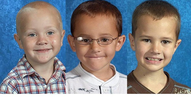Tanner Skelton, 5, from left, and his older brothers, Alexander, 7, and Andrew, 9, have been missing since 2010.