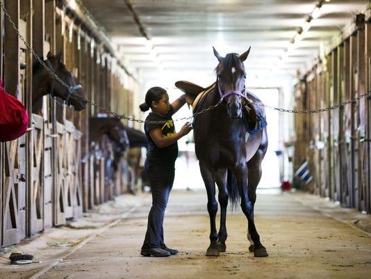 APTOPIX Horses Helping Kids