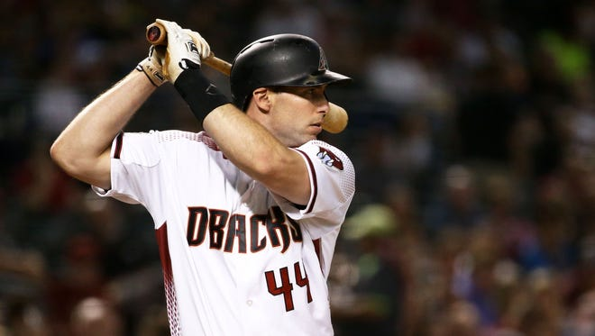 Arizona Diamondbacks' Paul Goldschmidt bats against the Pittsburgh Pirates in the 3rd inning on June 11, 2018, at Chase Field in Phoenix, Ariz.