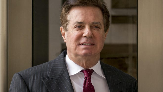 In this April 4, 2018, file photo, Paul Manafort, President Donald Trump's former campaign chairman, leaves the federal courthouse in Washington. A law firm tied to Manafort's international consulting work has agreed to pay $4.6 million and register as a foreign agent. The Justice Department announced a civil settlement Thursday, Jan. 17, 2019, with the law firm of Skadden, Arps, Slate, Meagher & Flom LLP.
