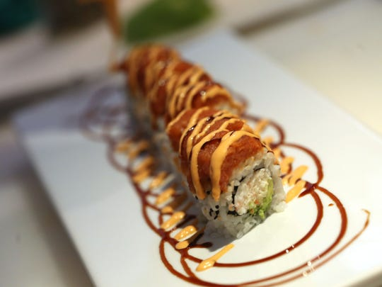 Chef Engin Onural's other creations include the Californian Dreaming sushi roll.