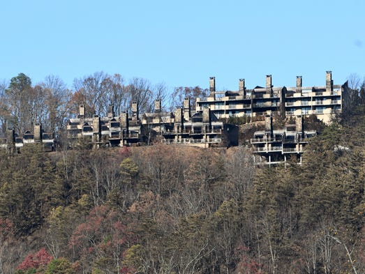 The burnt remains of Laurel Point Resort on Sky Mountain
