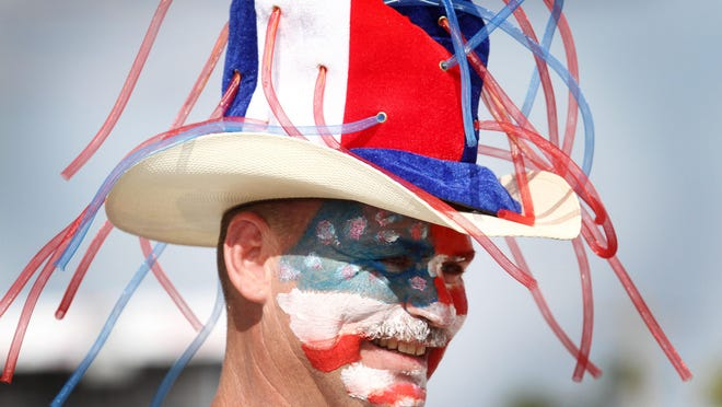 Bob Schield shows his patriotism at Red, White & Boom in Cape Coral last year. This year's celebration is Saturday.