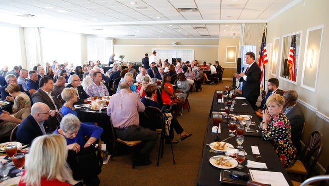 The Network of Entrepreneurs and Business Association held its meeting at the Capital City Country Club on Tuesday. The meeting allowed candidates for mayor of Tallahassee to share their vision and goals for the city.