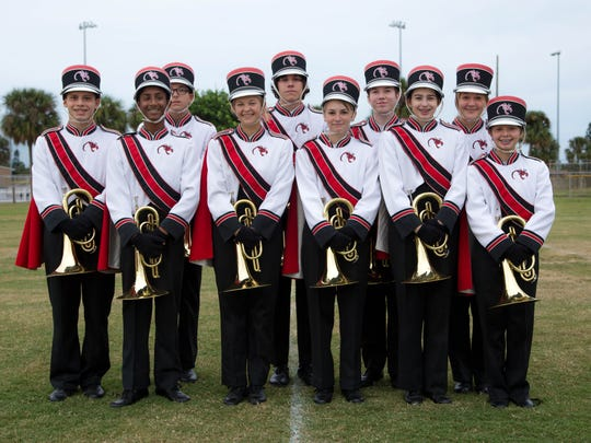 Shown is the Satellite High's marching band uniform.