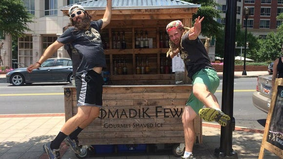 Sean Conn and Jamie Williams started The Nomadik Few in 2014 to take shaved ice beyond its carnival setting.