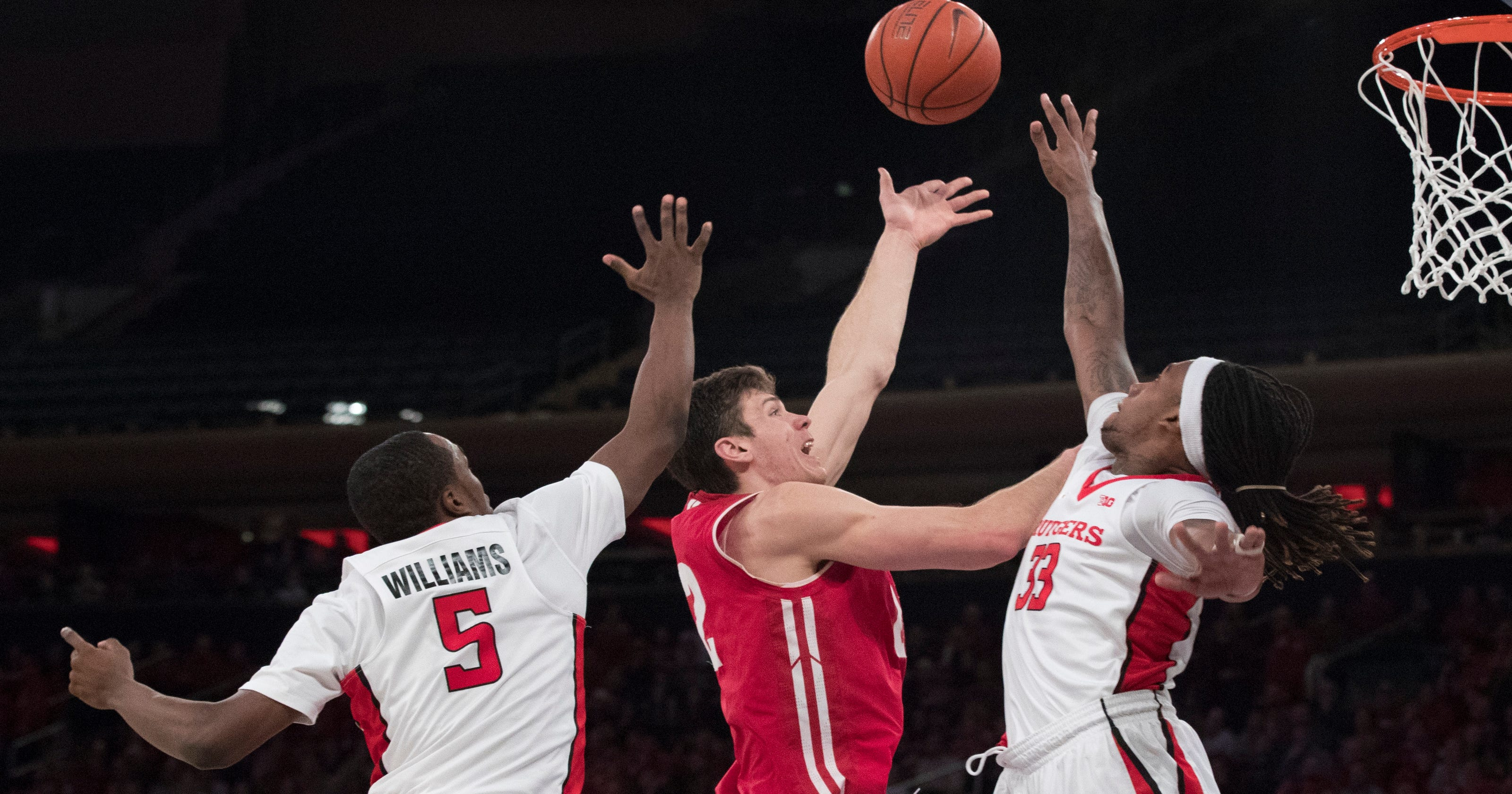 No  15 Wisconsin tops Rutgers in overtime with career day from Ethan